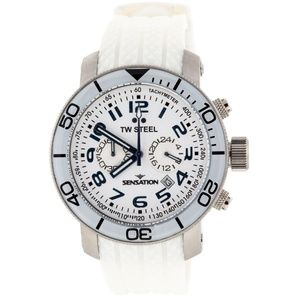 TW Steel Sensation Grandeur White Silicone Watch